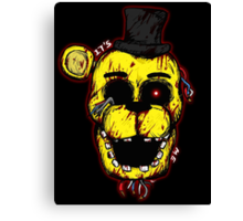 Bloody Golden Freddy FNAF Canvas Print