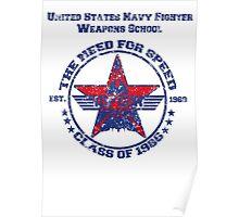 Top Gun Class of 86 - Weapon School - Warn Look Poster