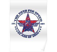 Top Gun Class of 86 - Need For Speed - Warn Look Poster