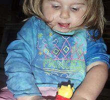 princess and pooh bear by gabriele