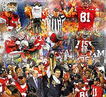 Ohio State Football 2015 National Champions Collage by John Farr
