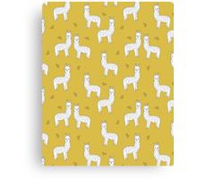 Alpaca - Mustard by Andrea Lauren Canvas Print