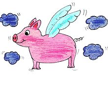 Pig with wings by soulysart