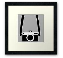 Black and White Camera  Framed Print
