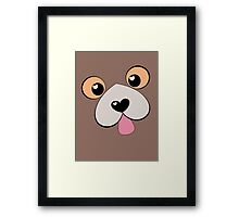 Doggie Kiss?  Doggie Hug? Framed Print