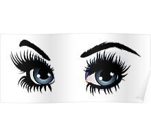 Eyes with make up Poster