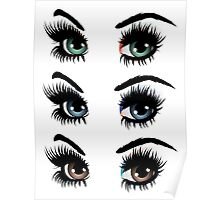 Eyes with make up 2 Poster