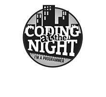Programmer T-shirt : Coding at the night Photographic Print