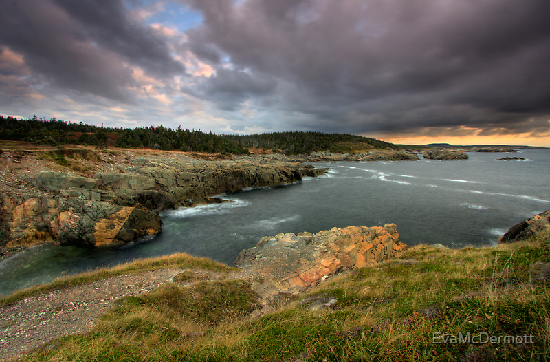 Clouds over Louisbourg Lighthouse by EvaMcDermott
