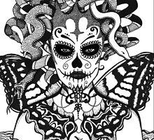 Con Alas de Mariposa (Black & White) by Monica Moody