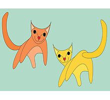Jumpy Cats Photographic Print