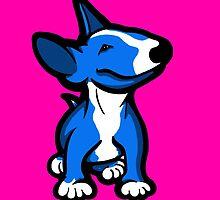 English Bull Terrier Pup Blue  by Sookiesooker