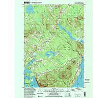 Maine USGS Historical Map Lincolnville 808031 2000 24000 Photographic Print