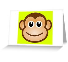 Cute Monkey Greeting Card