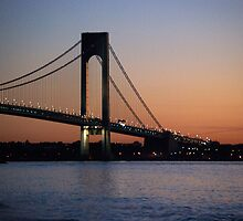 dawn by the verrazano narrows bridge by marianne troia