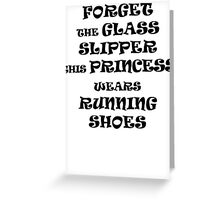 This Princess Wears Running Shoes Greeting Card