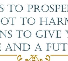 Prosper and Hope in the Future Christian QUote Sticker