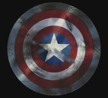 Worn Steve & Bucky Shield by siroctopus