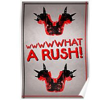 Shoulder Pads of Doom 2000 Design (White) Poster