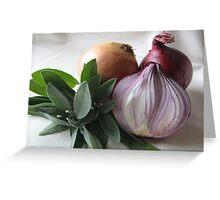 Sage & Onion Greeting Card