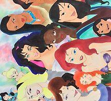Disney girls  by artistic-shasta