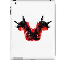 Shoulder Pads of Doom 2000 Design (White) iPad Case/Skin