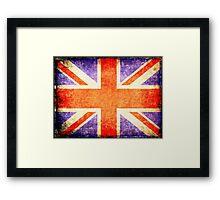 Vintage flag of United Kingdom Framed Print