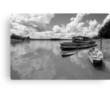 Amazon boats Canvas Print