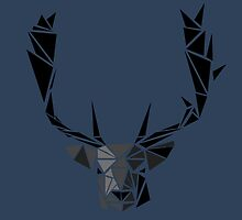 Triangle Poly Deer Head by KristalStittle