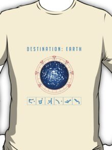 Destination Earth chevron symbols T-Shirt