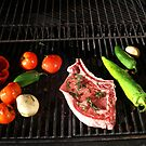 Grill - steak & fresh vegetables, by cascoly