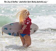 The joy of surfing Tatiana by Gary Blackman