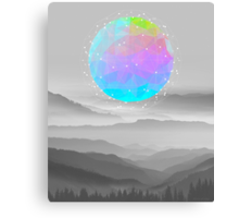 Worlds That Never Were (Geodesic Moon) Canvas Print