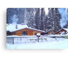 Our Cabin In The Woods...Winter Canvas Print