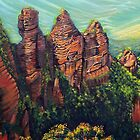 Three Sisters, Blue Mountains by © Linda Callaghan