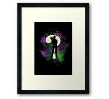 Riddler space Framed Print