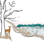 Deer and Snow by Carole Boyd
