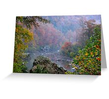 Rainy Days On The Mulberry River Greeting Card