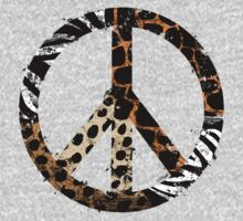 African Animal Pattern Peace Symbol Kids Clothes