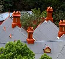 Chimneys of Walhalla Post Office by Bev Pascoe
