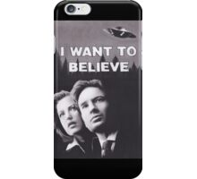 I Want to Believe X Files iPhone Case/Skin
