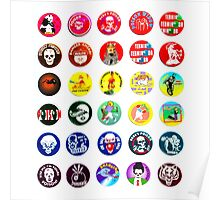POGS Milk Cap Collage Poster