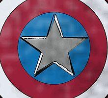 Captain America Shield by Jake Harrington