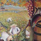 Colheita da uva em Bento Gonçalves-Rio Grande do Sul-Brasil (acrylics on canvas 50 X 70 cm) by Marilia Martin
