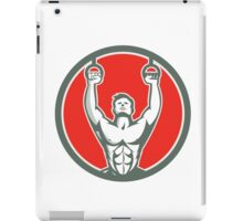Kipping Muscle Up Cross-fit Circle Retro iPad Case/Skin