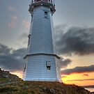 Louisbourg Lighthouse at Sunset by EvaMcDermott