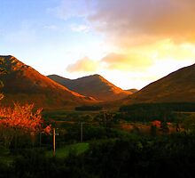 Autumnal Sunset - Conemara by Honor Kyne
