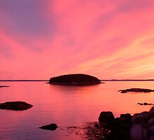Stonington Sunset by LifeInMaine