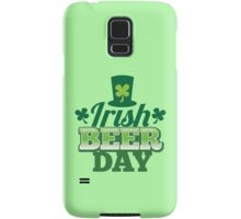 Irish Beer day St Patricks day design with top hat and shamrocks Samsung Galaxy Case/Skin