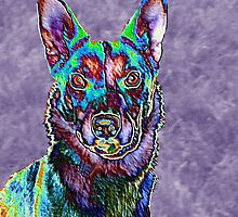 Psychedelic Dog by JenLand